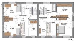 Duo Stadtvilla 160 - Grundriss Obergeschoss