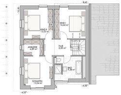 Pultdachhaus 130 - Grundriss Dachgeschoss