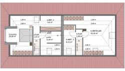 Duo Stadtvilla 160 - Grundriss Dachgeschoss