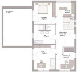 Bauhaus Modern Classic 150 - Grundriss Dachgeschoss