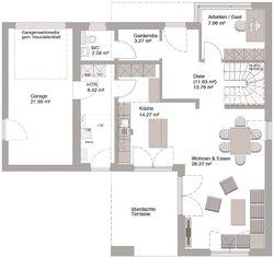 Bauhaus Modern Classic 150 - Grundriss Erdgeschoss