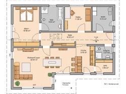 Das beste Lebensgefühl im Kern-Haus Bungalow Vita Pult, Grundriss
