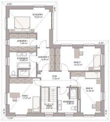 Mehrgenerationenhaus (Stadtvilla 220) - Grundriss Obergeschoss