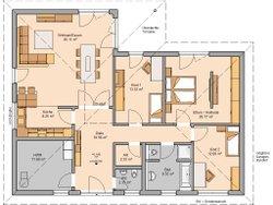 Kern-Haus Bungalow Balance Grundriss Klinker