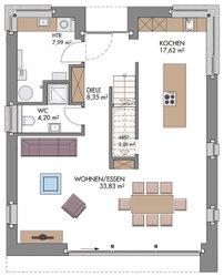 Vario-Haus 150 - Grundriss Erdgeschoss