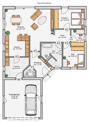 Albert Haus Winkelbungalow 110 - Grundriss