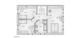 hebelhaus DHH Stadthaus 52.11 Grundriss OG