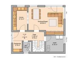 Grundriss Architektenhaus Loop Pult Dachgeschoss