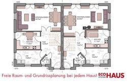 Duo Friesenhaus 130 - Grundriss Erdgeschoss