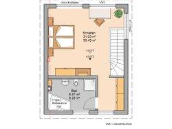 Grundriss DG Kern-Haus Singlehaus One