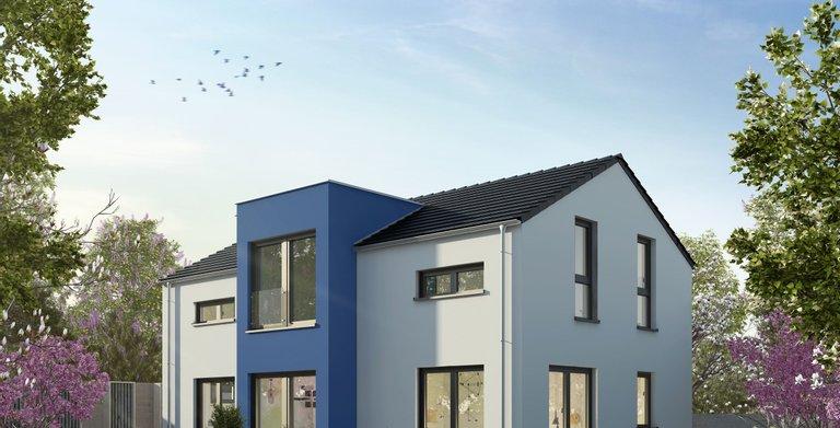 Einfamilienhaus mit Flachdach-Zwerchhaus von OKAL Haus GmbH
