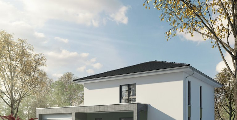 Einfamilienhaus mit Doppelgarage  von OKAL Haus GmbH