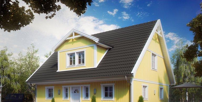Villa Henrik Knudsen von ALADOMO Schwedenhaus GmbH & Co. KG
