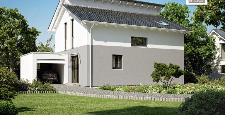 Kern-Haus Architektenhaus Loop Pult Eingangsseite