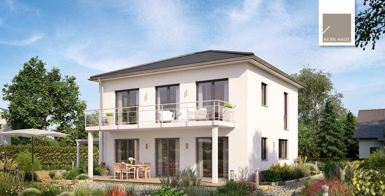 Die Stadtvilla Signus gibt es auch als Panoramavariante mit Wohn- und Esszimmer im Obergeschoss.