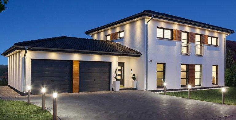 Durch das Beleuchtungskonzept wird das Haus perfekt in Szene gesetzt Copyright: Wolf-Haus