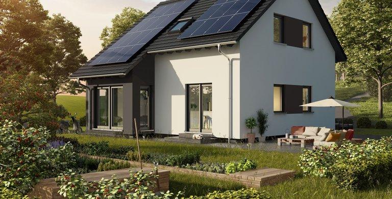 Einfamilienhaus mit Schleppdacherker von OKAL Haus GmbH
