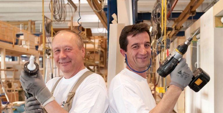 Produktion im Werk Oberstetten Copyright: SchwörerHaus KG
