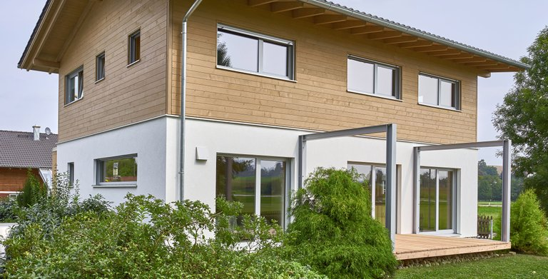 Concepthaus CASA VITA / Aussenansicht 02 Sonnleitner Holzbauwerke