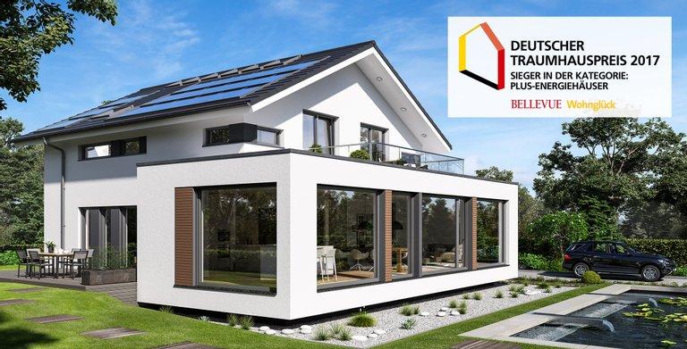 Das CONCEPT-M 210 setzt dank modernster Haustechnik Maßstäbe in Sachen Nachhaltigkeit. Dafür wurde es mit dem Deutschen Traumhauspreis 2017 ausgezeichnet. Copyright: © Bien-Zenker GmbH 2020