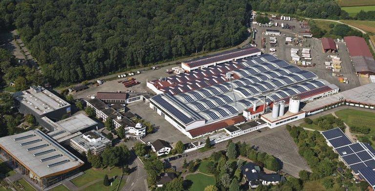 Die Firmenzentrale und Produktionshallen in Rheinau-Linx (Baden)